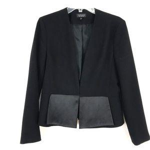 Topshop satin trim suit jacket blazer career work